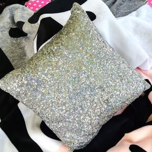 Victoria's Secret PINK Bling Snow Leopard Pillow